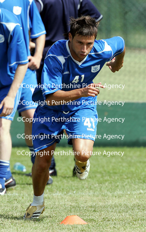 St Johnstone FC Training<br />Spanish trialist Manuel Pressegeur<br /><br />Picture by Graeme Hart.<br />Copyright Perthshire Picture Agency<br />Tel: 01738 623350  Mobile: 07990 594431