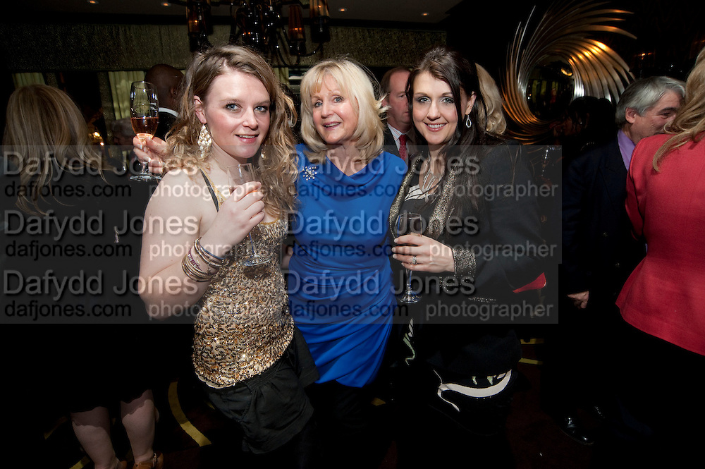 LUCINDA WATSON; LIZ BREWER; POSY BREWER, Liz Brewer GIVES A PARTY TO WELCOME 2010, Champagne <br /> Flemings Mayfair, 13 Half Moon Street, London. 5 January 2010