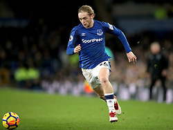 Everton's Tom Davies during the Premier League match at Goodison Park, Liverpool.