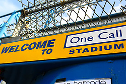 A general view of the One Call Stadium, home to Mansfield Town - Mandatory by-line: Ryan Crockett/JMP - 23/03/2019 - FOOTBALL - One Call Stadium - Mansfield, England - Mansfield Town v Crewe Alexandra - Sky Bet League Two