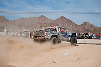 Jesse Jones trophy truck arrives at finish of 2011 San Felipe Baja 250