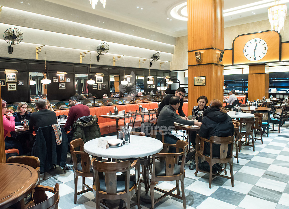 A general view of Dishoom, High Street Kensington as part of a restaurant review.  <br /> Picture by Daniel Hambury/Stella Pictures Ltd 07813022858<br /> 11/12/2017
