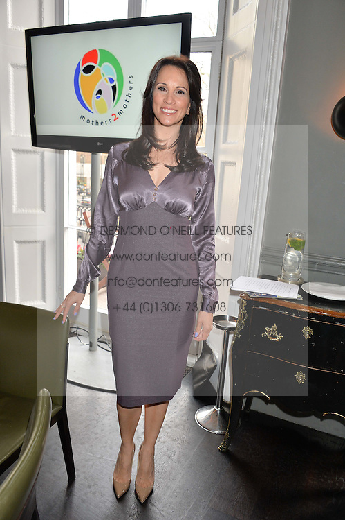 ANDREA McLEAN at the mothers2mothers Mother's Day Tea hosted by Nadya Abela at Morton's, Berkeley Square, London on 12th March 2015.  mothers2mothers is a charity working to eliminate mother to child transmission of HIV/AIDS across sub-Saharan Africa.