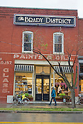 A Brady District sign hangs above the kitchen of The Tavern Restaurant on Brady Street on Friday, October 18, 2013, in Tulsa, Oklahoma.