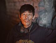 Portrait of a coal miner in Bulgan town. Travels in the Gobi desert region.