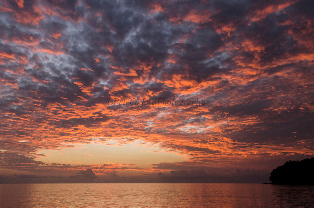 Sunset<br /> Cenderawasih Bay<br /> West Papua<br /> Indonesia