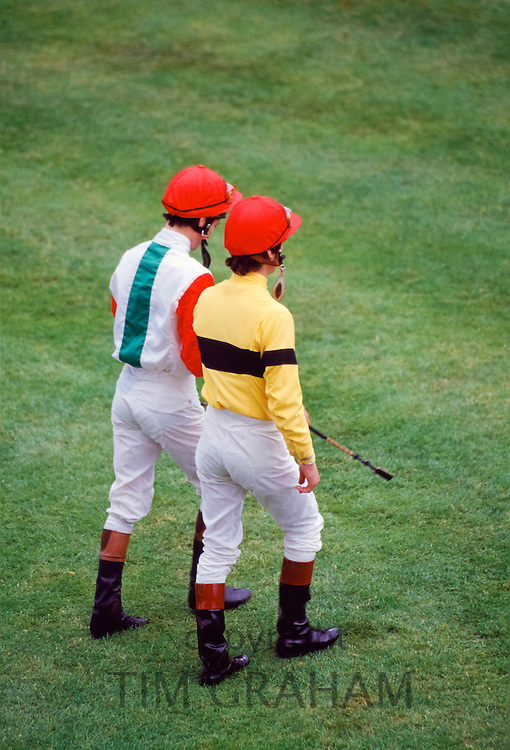 Jockeys at Ascot races, UK