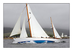 Day two of the Fife Regatta,Passage race to Rothesay.<br /> <br /> Latifa, 8, Mario Pirri, ITA, Bermudan Yawl, Wm Fife 3rd, 1936<br /> * The William Fife designed Yachts return to the birthplace of these historic yachts, the Scotland's pre-eminent yacht designer and builder for the 4th Fife Regatta on the Clyde 28th June–5th July 2013<br /> <br /> More information is available on the website: www.fiferegatta.com