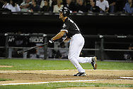 CHICAGO - SEPTEMBER 14:  Omar Vizquel #11 of the Chicago White Sox bats against the Minnesota Twins on September 14, 2010 at U.S. Cellular Field in Chicago, Illinois.  The Twins defeated the White Sox 9-3.  (Photo by Ron Vesely)