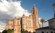 Sixteenth century church of Purisima Concepcion in village of Zufre, Sierra de Aracena, Huelva province, Spain