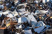 Scrap metal recycling facility, Wilmington, North Carolina, USA.