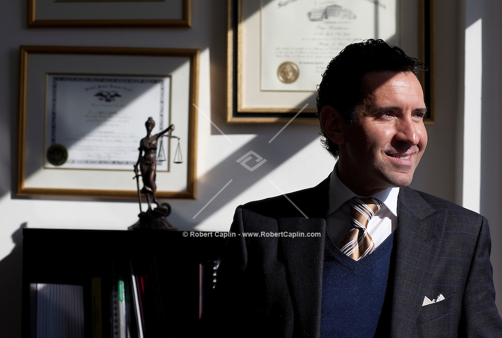 Real Estate Attorney Luigi Rosabianca in his Wall Street office. ..Photo by Robert Caplin