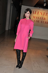 CAROLINE SIEBER at a private view of 'Valentino: Master Of Couture' at Somerset House, London on 28th November 2012.