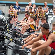 3:40 PM- Perry Group #36 Heat 2- Men?s 500m U16<br /> <br /> NZ Indoor Champs, raced at Avanti Drome, Cambridge, New Zealand, Saturday 23rd November 2019 © Copyright Steve McArthur / @rowingcelebration www.rowingcelebration.com