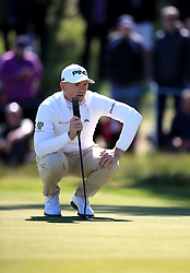 England's Matt Wallace on the 7th green during day three of the Betfred British Masters at Hillside Golf Club, Southport.