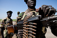 An SPLA on the border between the north and the south in Upper Nile state.