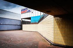 A pedestrian underpass in Basildon Town Centre. Essex