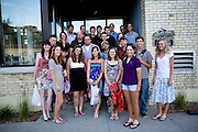 The Oregon Marching Band seniors go to dinner in Traverse City, Michigan on July 8, 2010.