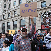 Annual Al Quds Day 2018 counters by pro-Israelis and far-rights assembly at the Saudi Embassy march to whitehall on June 10, 2018,  London, UK.
