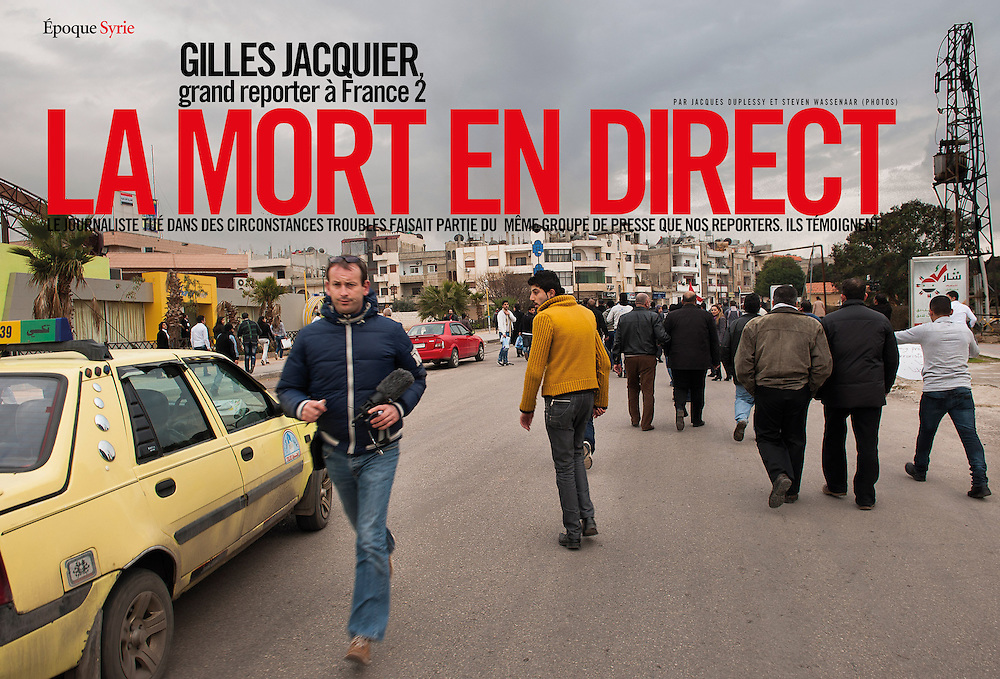 Mortar attack on civilians and journalists in Homs. The death of Gilles Jacquier. (Syria)