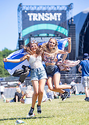 Jordanna Glashan 16 Perth and Sophie McKay 16 Perth, Fans in the arena on Saturday 30th June at TRNSMT 2018.