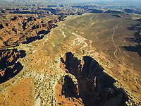 Aerial view of Canyonlands National Park in Utah, USA.