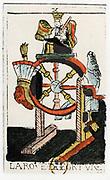 Tarot card. The Juggler or Mountebank. Parisian Tarot 1500. Tarot pack of 22 cards was used in fortune telling.