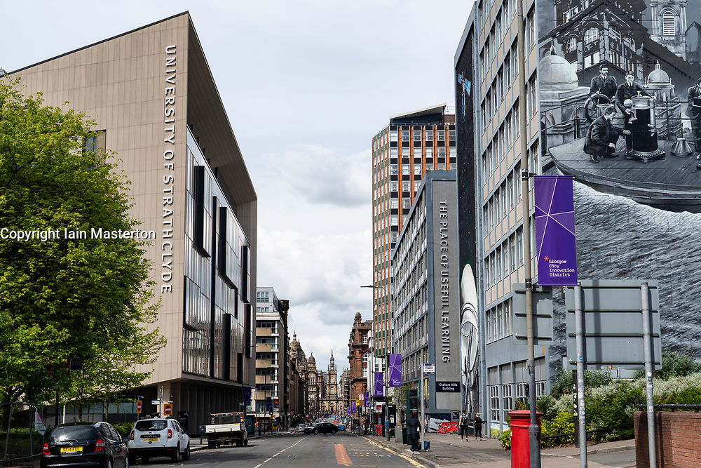 View of campus of University of Strathclyde on George Street in city centre of Glasgow, Scotland, UK