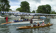 Henley, GREAT BRITAIN,  GV Messing about on the River from the Progress Board towards Phillis Court, Punt and Slipper Launch. 2002 Henley Royal Regatta [Credit, Peter Spurrier/Intersport Images] 05/07/2002 ...........Rowing Courses, Henley Reach, Henley, ENGLAND. HRR