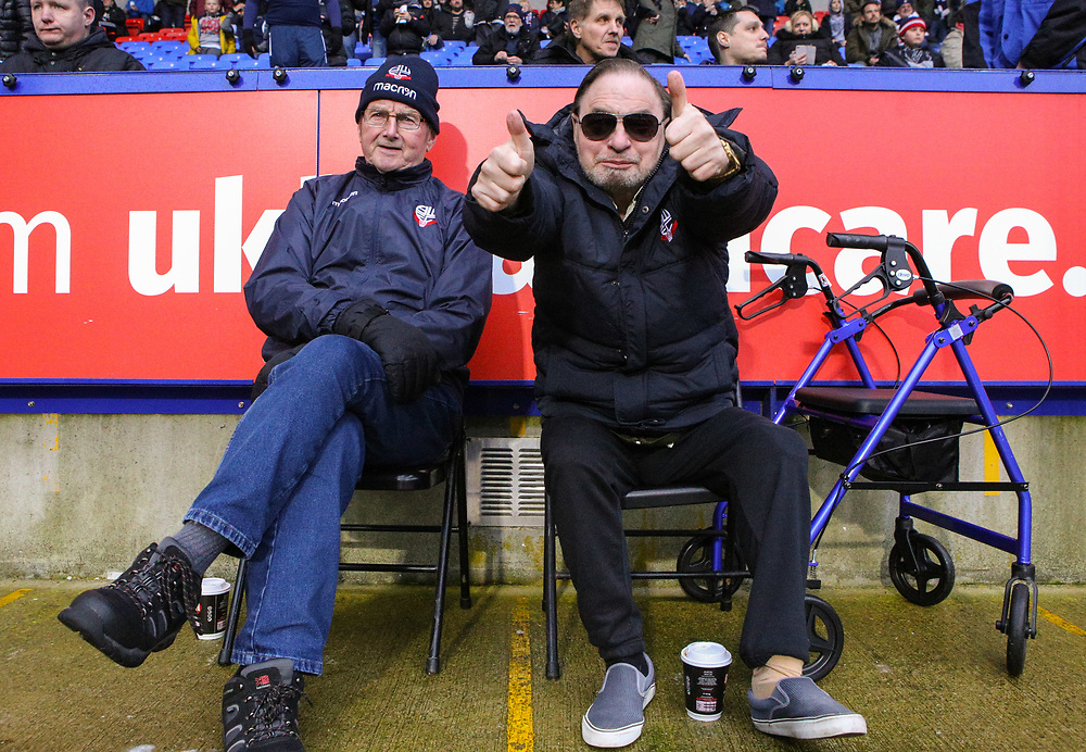 Bolton Wanderers fans take their seats<br /> <br /> Photographer Alex Dodd/CameraSport<br /> <br /> The EFL Sky Bet Championship - Bolton Wanderers v Burton Albion - Saturday 16th December 2017 - Macron Stadium - Bolton<br /> <br /> World Copyright © 2017 CameraSport. All rights reserved. 43 Linden Ave. Countesthorpe. Leicester. England. LE8 5PG - Tel: +44 (0) 116 277 4147 - admin@camerasport.com - www.camerasport.com