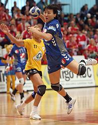 Ljudmila Bodnieva of Krim at handball match of 1/4 finals of Women handball Cup Winners cup between RK Krim Mercator, Ljubljana and C.S. Rulmentul-Urban Brasov, Romania, in Arena Kodeljevo, Ljubljana, Slovenia, on 8th of March 2008. Rulmentul-Urban won match against RK Krim Mercator with 29:27.