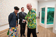JESSICA VOORSANGER; ED VAIZEY; BOB AND ROBERTA SMITH, Damien Hirst, Tate Modern: dinner. 2 April 2012.