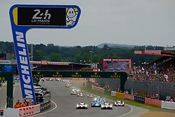 June 16, 2018 - Le Mans, Sarthe, France - Start of the 86th edition of the 24 hours of Le Mans 2nd round of the FIA World Endurance Championship at the Sarthe circuit at Le Mans - France (Credit Image: © Pierre Stevenin via ZUMA Wire)
