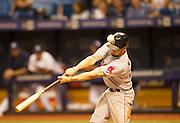 MLB: SEP 12 Red Sox at Rays. Boston Red Sox  Blake Swihart hits a foul ball.