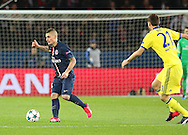 Paris Saint-Germain Marco Verratti on the ball during the Champions League match between Paris Saint-Germain and Chelsea at Parc des Princes, Paris, France on 17 February 2015. Photo by Phil Duncan.
