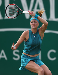 Petra Kvitova during day two of the Nature Valley Classic at Edgbaston Priory, Birmingham. PRESS ASSOCIATION Photo. Picture date: Tuesday June 19, 2018. See PA story TENNIS Birmingham. Photo credit should read: David Davies/PA Wire. RESTRICTIONS: Editorial use only, no commercial use without prior permission