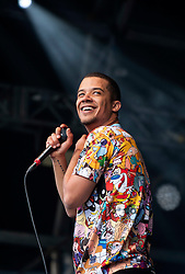 © Licensed to London News Pictures. 24/06/2015. Bristol, UK.  RALEIGH RITCHIE (real name Jacob Anderson) in concert at the Bristol Summer Series supporting George Ezra.  Raleigh Ritchie is his stage name as a singer.  Jacob Anderson is also an actor in Game of Thrones playing Grey Worm.  Photo credit : Simon Chapman/LNP