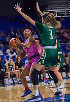 Middle Tennessee Blue Raiders guard Anastasia Hayes (1) during the UAB Blazers at Middle Tennessee Blue Raiders college basketball game in Murfreesboro, Tennessee, Thursday, February, 20, 2020.<br /> Photo: Harrison McClary/All Tenn Sports