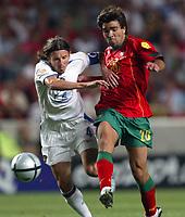 Lisbon 16/6/2004 Euro2004 <br />RUSSIA PORTUGAL 0-2<br />Alexei Smertin (Russia) and Deco (Portugal)<br />Photo Graffiti