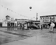"""Ackroyd 02634-2. """"West - Marquis Inc. General Petroleum Corp. Opening of new Mobilgas station at NW 19th & Thurman. January 19, 1951"""""""