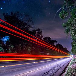 """""""Rodovia BR 101 (Estrada) fotografado em Linhares, Espírito Santo -  Sudeste do Brasil. Bioma Mata Atlântica. Registro feito em 2015.<br /> <br /> <br /> <br /> ENGLISH: BR-101 Transcoastal Highway photographed in Linhares, Espírito Santo - Southeast of Brazil. Atlantic Forest Biome. Picture made in 2015."""""""