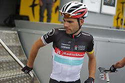 01.07.2012, Luettich, BEL, Tour de France, 1. Etappe Luettich-Seraing, im Bild Maxime MONFORT (6 - BEL - Radioshack-Nissan Trek) nach dem Einschreiben // during the Tour de France, Stage 1, Liege-Seraing, Belgium on 2012/07/01. EXPA Pictures © 2012, PhotoCredit: EXPA/ Eibner/ Ben Majerus..***** ATTENTION - OUT OF GER *****