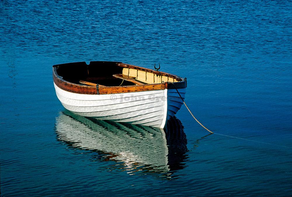 Rustic wooden row boat, Cape Cod