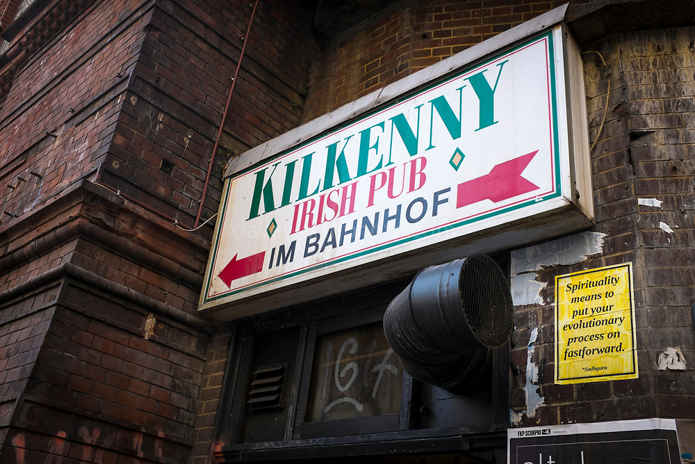 Spirituality from the Sadhguru, and a sign for Kilkenny Irish Pub, Berlin