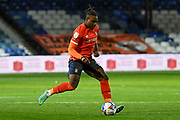 Luton Town defender Luton Town midfielder Pelly-Ruddock Mpanzu (17) sprints forward with the ball during the EFL Sky Bet Championship match between Luton Town and Nottingham Forest at Kenilworth Road, Luton, England on 28 October 2020.