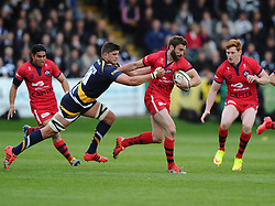 Bristol Rugby Fly-Half Nicky Robinson breaks free  - Photo mandatory by-line: Joe Meredith/JMP - Mobile: 07966 386802 - 27/05/2015 - SPORT - Rugby - Worcester - Sixways Stadium - Worcester Warriors v Bristol Rugby - Greene King IPA Championship