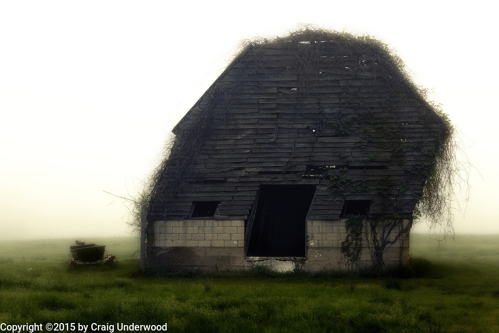 This barn struggled for months to stay upright but shortly after I took this photo it collapsed