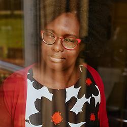 Sibeth Ndiaye, government spokeswoman, in her office. Paris, France. April 11, 2019.<br /> Sibeth Ndiaye, porte-parole du gouvernement, dans son bureau. Paris, France. 11 avril 2019.