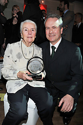 CLIVE CHAPMAN son of the late Colin Chapman and his mother HAZEL CHAPMAN at the Motor Sport magazine's 2013 Hall of Fame awards at The Royal Opera House, London on 25th February 2013.