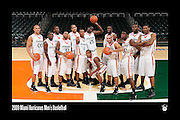 2009 Miami Hurricanes Men's Basketball Team Photo